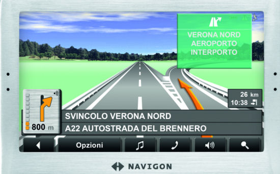 Nuovo NAVIGON 8110: navigazione realistica!