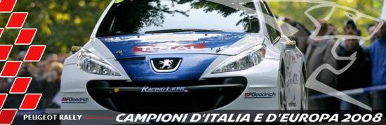 Peugeot e Andreucci ancora insieme nel Campionato Italiano Rally 2009