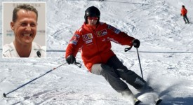 Former Formula One world champion Michael Schumacher skis in the northern Italian resort of Madonna Di Campiglio in this January 13, 2005 file photo. Schumacher suffered a serious head injury while skiing in the French Alps resort of Meribel, French media reported on December 29, 2013. REUTERS/stringer (ITALY - Tags: SPORT MOTORSPORT F1 DISASTER TPX IMAGES OF THE DAY)
